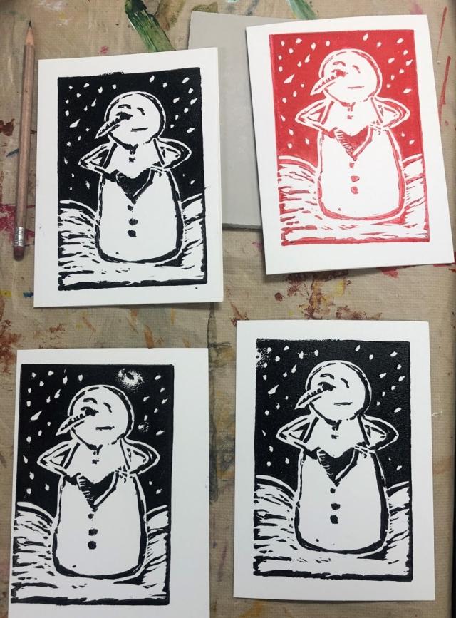 Block Print Holiday Cards Visit Aiken Sc